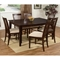 Shaker Butterfly Extension Dining Table w/ 6 Slat Back Chairs - ATL-SH60X42BLDT7PC