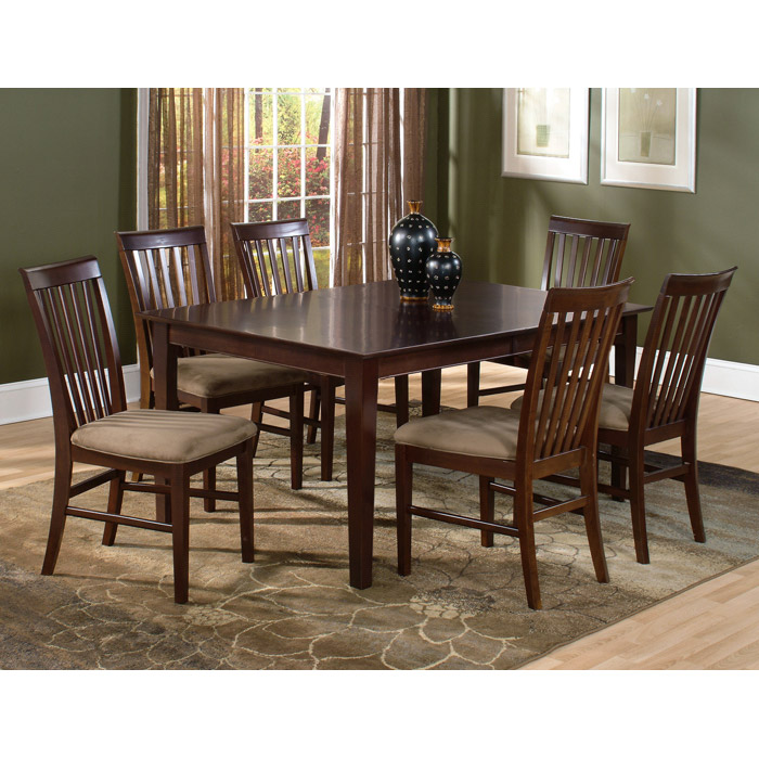 Shaker 7 Piece Extension Dining Set w/ 78 x 42 Rectangle Table