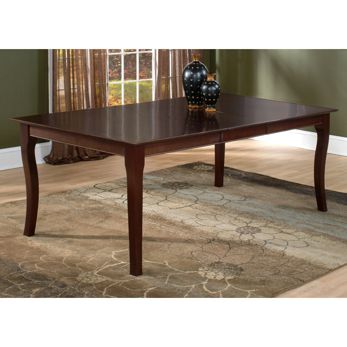 Venetian 78 x 42 Butterfly Extension Dining Table w/ Curved Legs