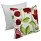 "Elegant Rose Hand Embroidered 20"" Throw Pillows - Floral Palette (Set of 2) - BLZ-FL-6-20-S2"