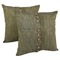 "9-Button 20"" Throw Pillows - Sage (Set of 2) - BLZ-IE-20-BTN-S2-SG"