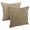 Woven Look Rope Corded Pillows, Jute Brown (Set of 2) - BLZ-IE-20-WOV-RP-2-S2
