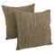 "20"" Throw Pillows, Brown and Beige Red Palette Striped (Set of 2) - BLZ-IE-20-YRN-S2-MX-2"