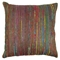 "20"" Throw Pillows - Rainbow Yarn & Bronze Fabric (Set of 2) - BLZ-IE-20-YRN-S2-RBW-BZ"