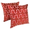 "Moroccan Beaded Velvet 20"" Throw Pillows - Gold Beads and Red Velvet (Set of 2) - BLZ-IN-21365-20-S2-RD-GO"