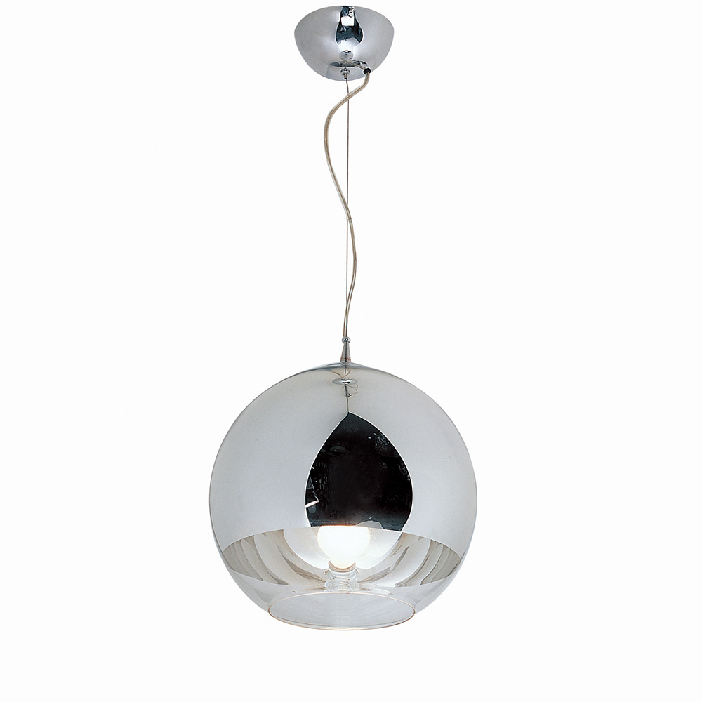 Orion 12 Inch Orb Pendant Light - Blown Glass, Metal