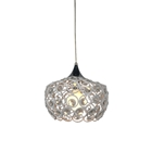 Holland Crystal Pendant Light - White, Aluminum