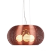 Lenox 3 Light Modern Ceiling Lamp - Aluminum, Maroon