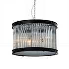 Sussex Pendant Light - Clear Glass, Black Metal