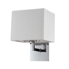 Prescott Single Wall Lamp - Off-White Linen, Polished Chrome Steel