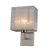 Prescott Single Wall Lamp - Silver Silk, Brushed Nickel