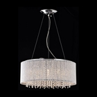Crystalline Modern Round Chandelier - Chrome, Metal