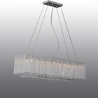 Crystalline Modern 10 Light Chandelier - Chrome, Metal
