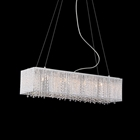 Crystalline Modern 8 Light Chandelier - Chrome, Metal