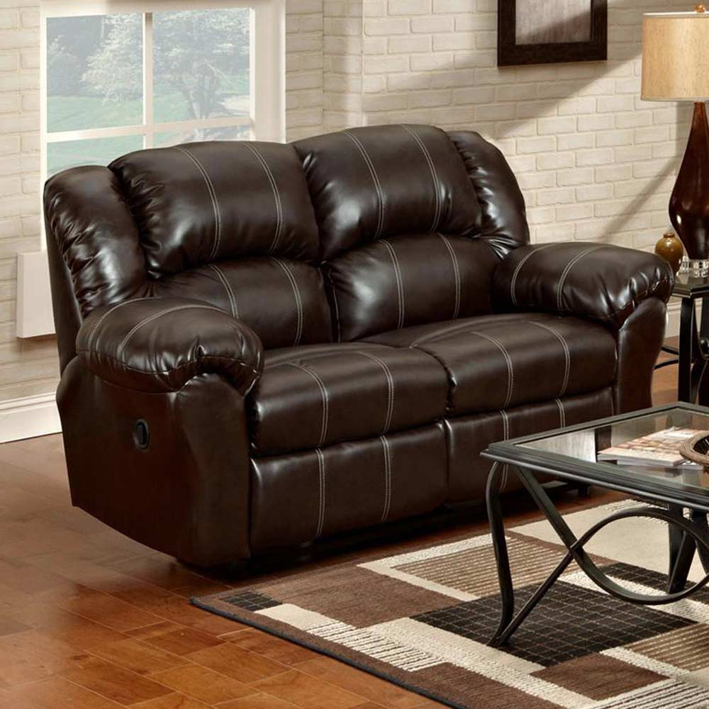 Ambrose Loveseat Recliner - Brandon Brown Leather - CHF-1002-BB
