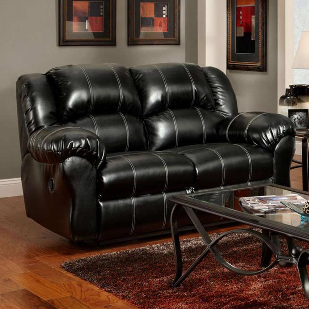 Ambrose Loveseat Recliner - Taos Black Leather