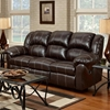 Ambrose Sofa Recliner - Brandon Brown Leather