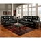 Ambrose Sofa Recliner - Taos Black Leather - CHF-1003-TB