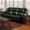 Ambrose Sofa Recliner - Taos Black Leather