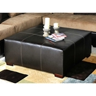 Domino Square Ottoman - Wooden Feet, Stitching