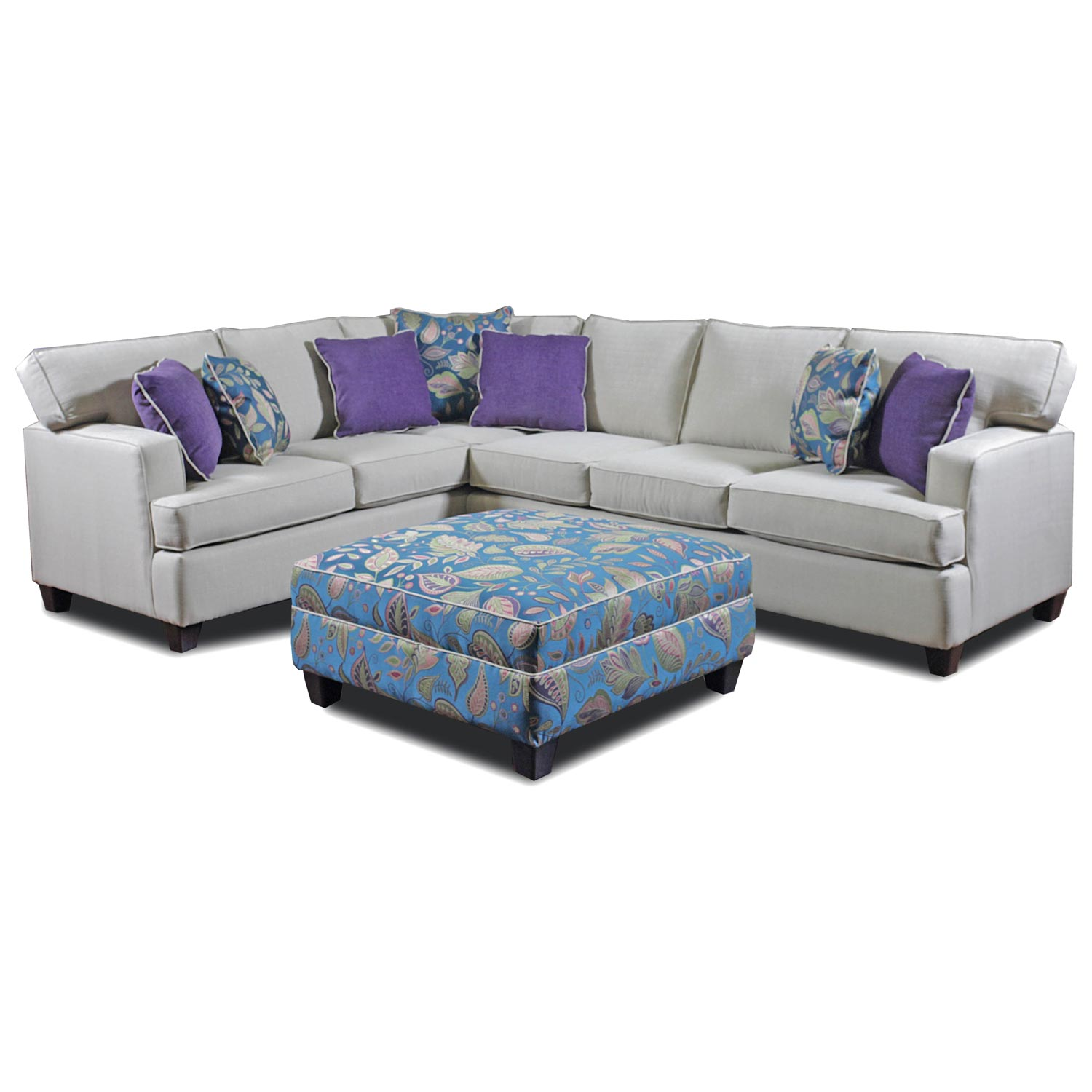 Shawnee Sectional Sofa - Turnbridge Straw Fabric