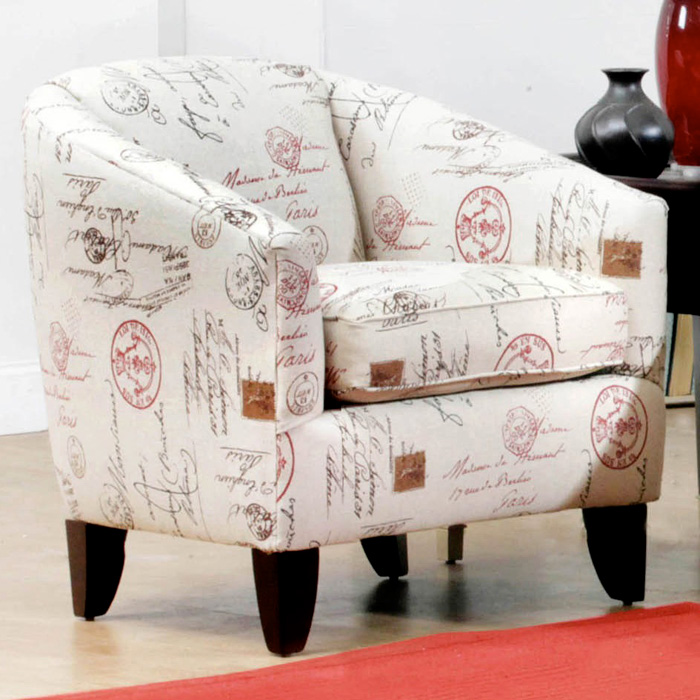 Boulder Modern Accent Chair - Postal Ruby Fabric