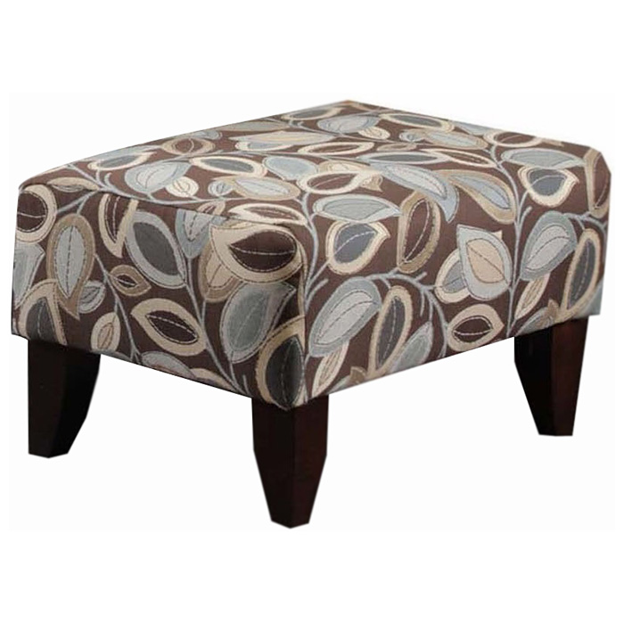 Bixby Upholstered Ottoman - Turning Leaf Earth Fabric