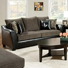 Union Upholstered Sofa - Charcoal Fabric Cushions