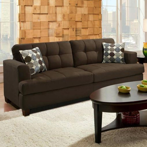 Morris Tufted Sofa - Calcutta Coffee Fabric