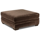 Barstow Cocktail Ottoman - Sharpei Chocolate Fabric