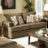 Calexico Pillow Back Loveseat - Cornell Cocoa Fabric