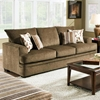Calexico Pillow Back Sofa - Cornell Cocoa Fabric