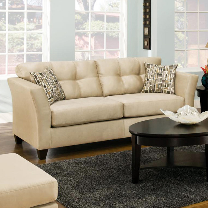 Del Mar Tufted Sofa - Beijing Toast Fabric - CHF-184503-8046