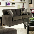 Rockland Contemporary Loveseat - Hematite Gray Fabric
