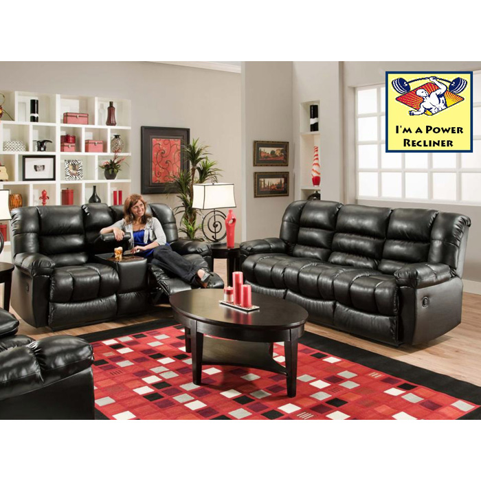 Orleans Power Reclining Loveseat - New Era Black - CHF-185502-4801PWR