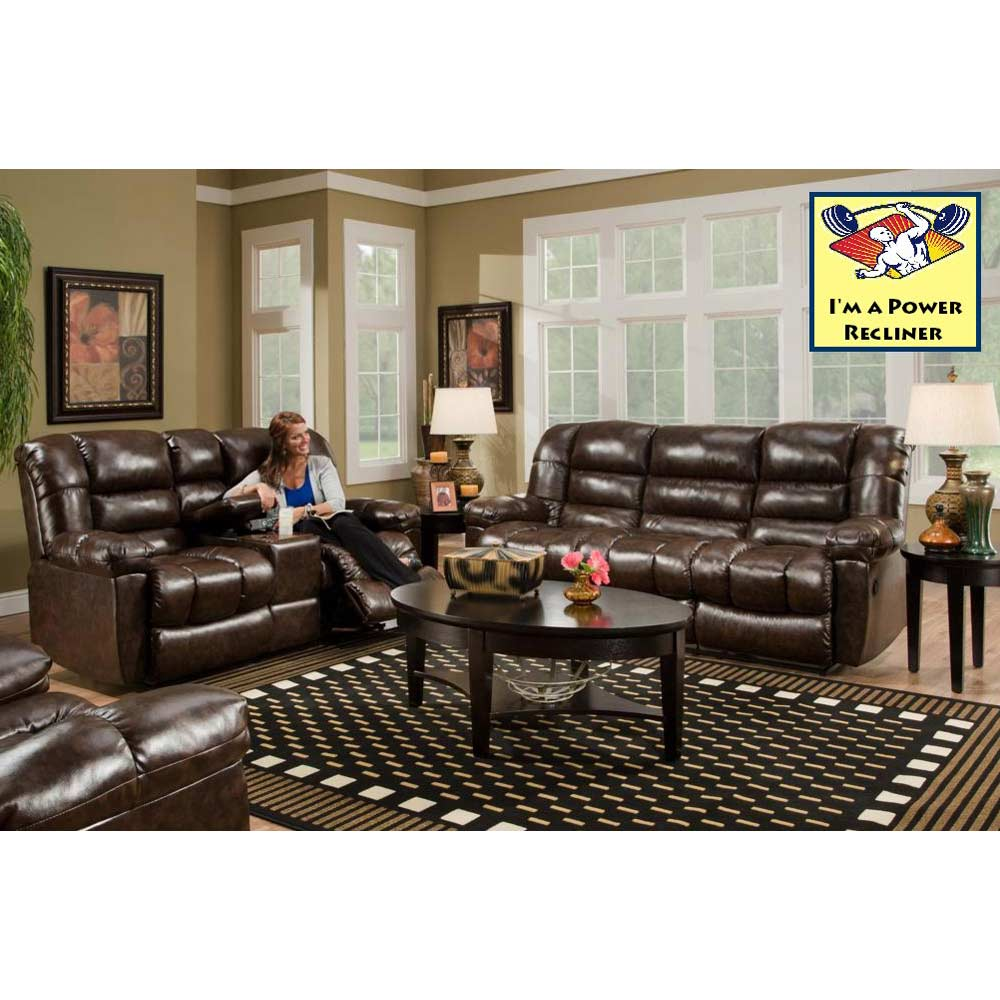Orleans Power Reclining Sofa - New Era Walnut - CHF-185503-4800PWR