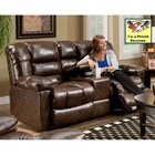 Orleans Power Reclining Loveseat - New Era Walnut