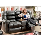 Orleans Upholstered Reclining Loveseat - New Era Black