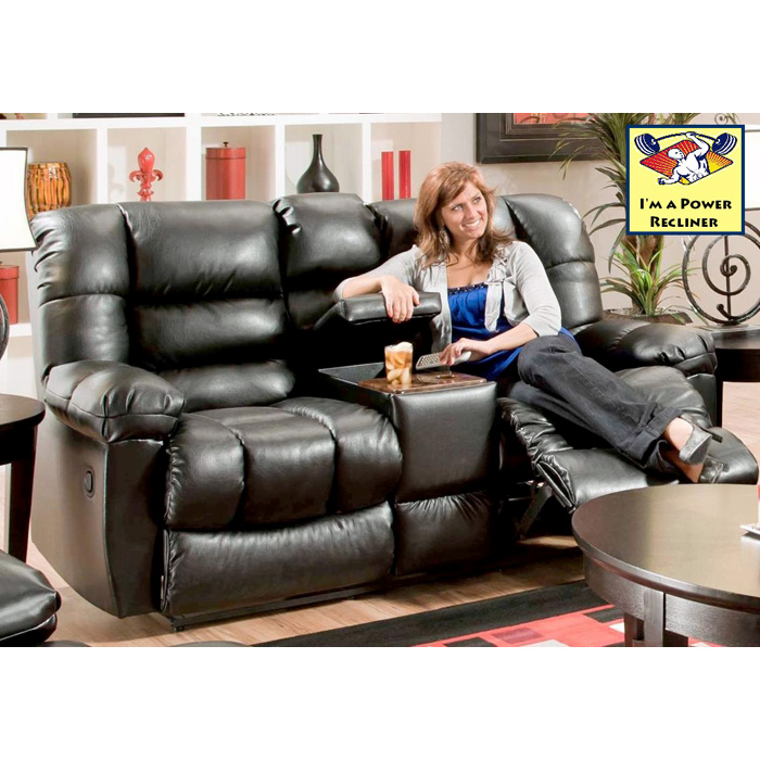 Orleans Power Reclining Loveseat - New Era Black