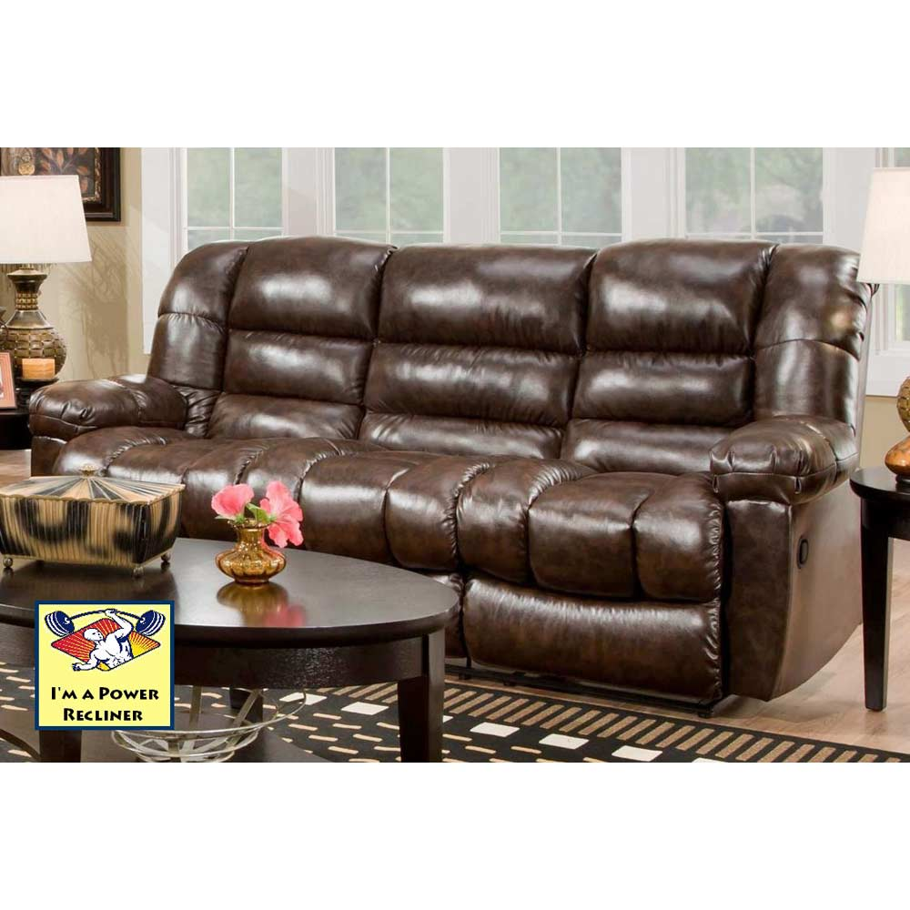 Orleans Power Reclining Sofa - New Era Walnut