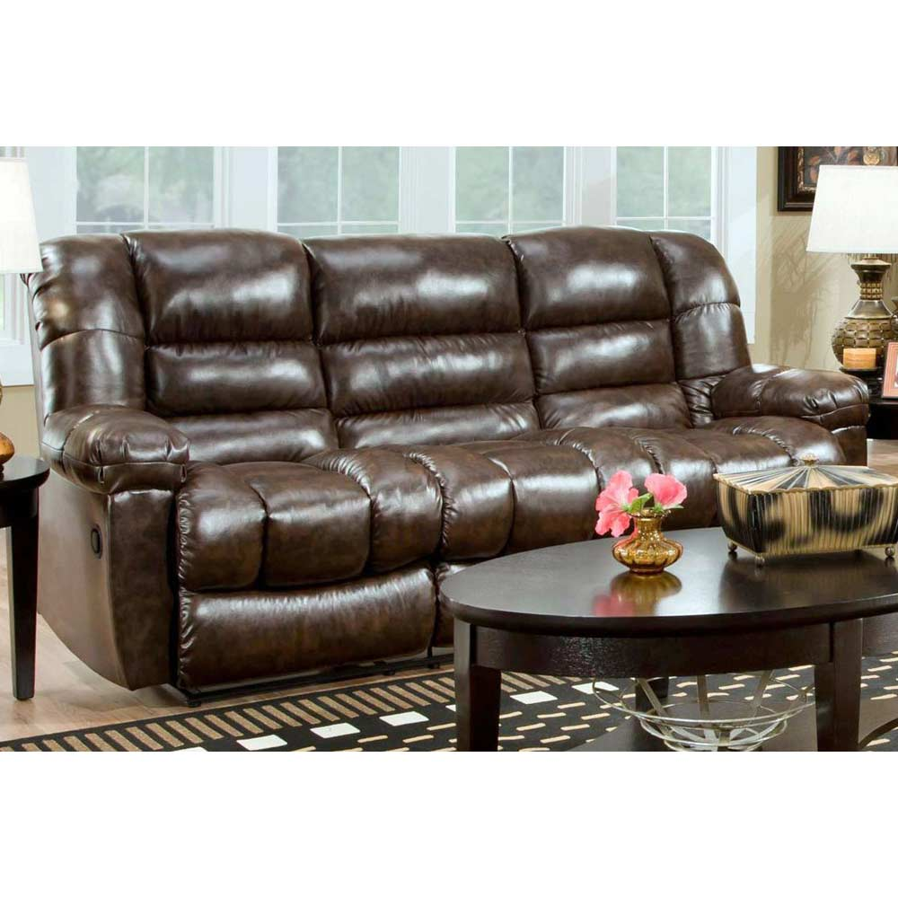 Orleans Upholstered Reclining Sofa - New Era Walnut