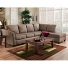 Broome Fabric Sofa & Chaise Sectional - Glacier Dark Brown