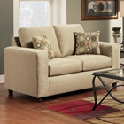 Talbot Contemporary Loveseat - Vivid Beige Fabric