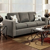 Talbot Contemporary Sofa - Vivid Onyx Fabric
