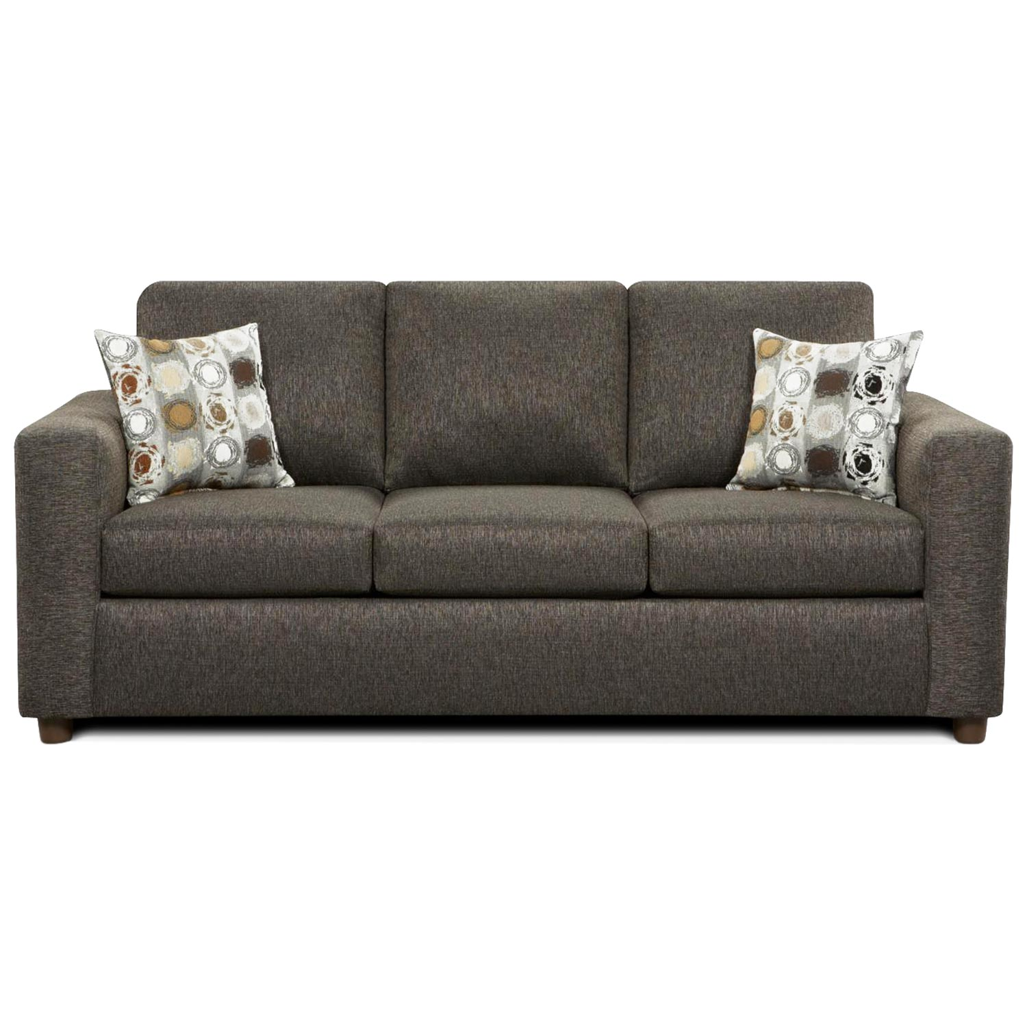 Talbot Contemporary Sleeper Sofa - Vivid Onyx Fabric