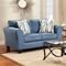 Lehigh Microfiber Loveseat - Patriot Blue - CHF-195002-PB