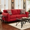 Lehigh Microfiber Sofa - Patriot Red - CHF-195003-PR