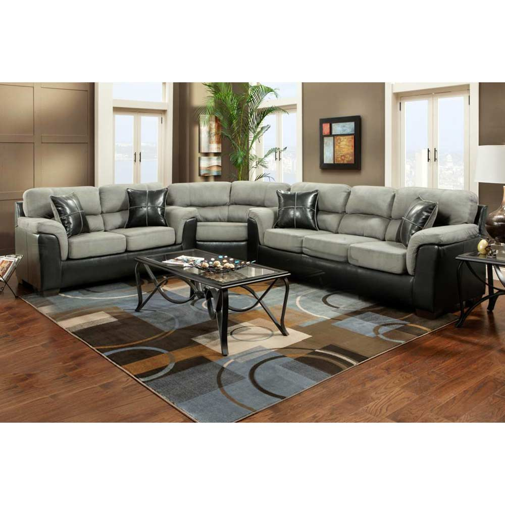 Lancaster 3-Piece Sectional Sofa - Laredo Graphite