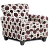 Worcester Fabric Accent Chair - Conspiracy Mulberry