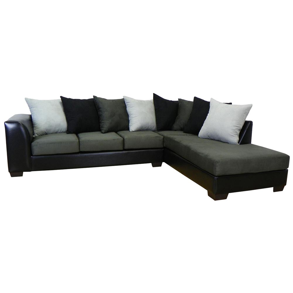 Christine Sofa & Chaise Sectional - Bulldozer Graphite